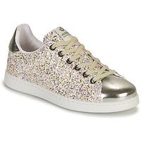 Sapatos Rapariga Sapatilhas Victoria TENIS GLITTER Prata