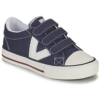 Sapatos Rapaz Sapatilhas Victoria TRIBU TIRAS LONA Azul