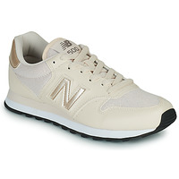 Sapatos Mulher Sapatilhas New Balance 500 Bege / Ouro