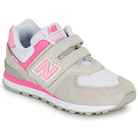 Sapatos Rapariga Sapatilhas New Balance 574 Cinza / Rosa
