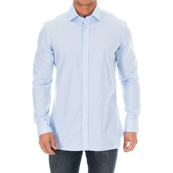 Textil Homem Camisas mangas comprida Hackett Camisa M/Larga Azul