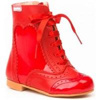 Sapatos Rapariga Botins Cbp - Conbuenpie Botin de mujer de piel by PEPE MENARGUES (TUPIE) Rouge