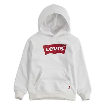 Textil Rapaz Sweats Levi's BATWING HOODIE Branco