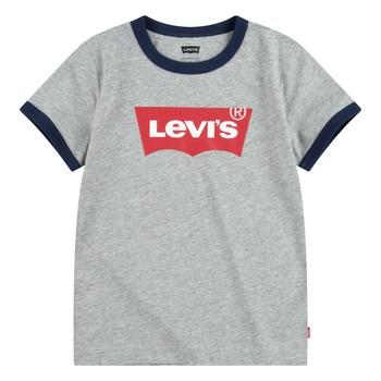 Textil Rapaz T-Shirt mangas curtas Levi's BATWING RINGER TEE Cinza