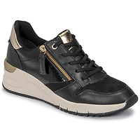 Sapatos Mulher Sapatilhas Tamaris REA Preto / Ouro
