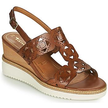 Sapatos Mulher Sandálias Tamaris ALIS Conhaque