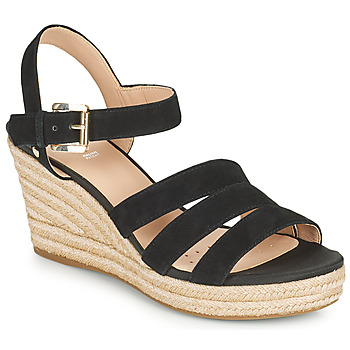 Sapatos Mulher Sandálias Geox D SOLEIL C Preto