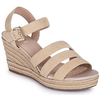 Sapatos Mulher Sandálias Geox D SOLEIL C Bege