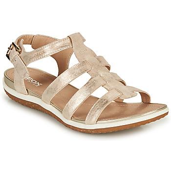 Sapatos Mulher Sandálias Geox D SANDAL VEGA A Ouro