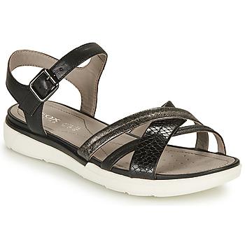 Sapatos Mulher Sandálias Geox D SANDAL HIVER A Preto / Prata