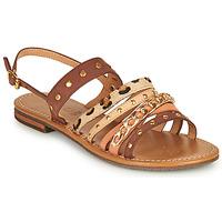 Sapatos Mulher Sandálias Geox D SOZY S I Castanho / Bege
