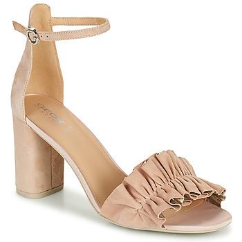 Sapatos Mulher Sandálias Geox D ERAKLIA HIGH E Bege