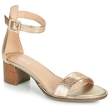 Sapatos Mulher Sandálias Geox D SOZY MID E Ouro