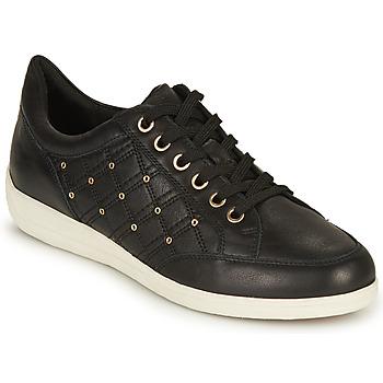 Sapatos Mulher Sapatilhas Geox D MYRIA H Preto