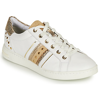 Sapatos Mulher Sapatilhas Geox D JAYSEN A Branco / Ouro