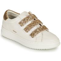 Sapatos Mulher Sapatilhas Geox D PONTOISE C Branco / Ouro