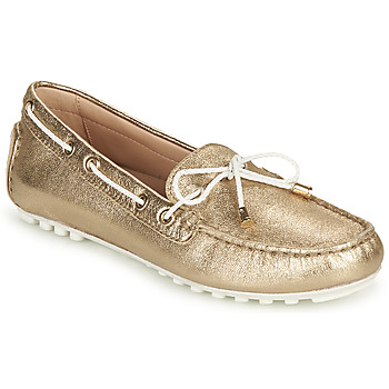 Sapatos Mulher Mocassins Geox D LEELYAN C Ouro / Branco