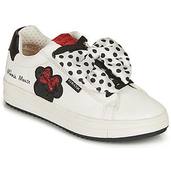 Sapatos Rapariga Sapatilhas Geox REBECCA GIRL Branco / Preto / Vermelho