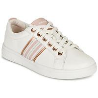 Sapatos Rapariga Sapatilhas Geox DJROCK GIRL Branco / Rosa