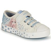 Sapatos Rapariga Sapatilhas Geox JR CIAK GIRL Branco / Azul