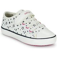 Sapatos Rapariga Sapatilhas Geox GISLI GIRL Branco