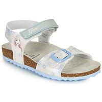 Sapatos Rapariga Sandálias Geox ADRIEL GIRL Branco / Azul