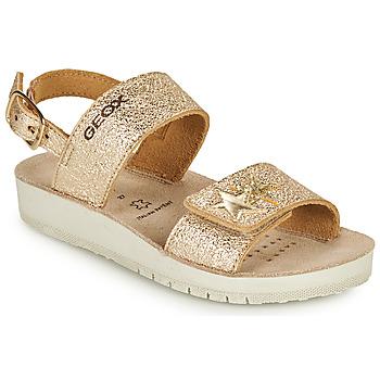 Sapatos Rapariga Sandálias Geox SANDAL COSTAREI GI Ouro