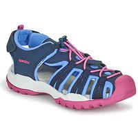 Sapatos Rapariga Sandálias desportivas Geox BOREALIS GIRL Azul / Rosa