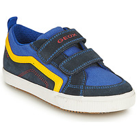 Sapatos Rapaz Sapatilhas Geox ALONISSO BOY Marinho / Amarelo