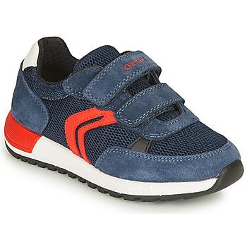 Sapatos Rapaz Sapatilhas Geox ALBEN BOY Marinho / Vermelho