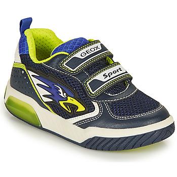 Sapatos Rapaz Sapatilhas Geox INEK BOY Marinho / Amarelo