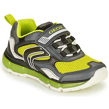 Sapatos Rapaz Sapatilhas Geox ANDROID BOY Cinza / Lima