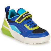 Sapatos Rapaz Sapatilhas Geox GRAYJAY BOY Azul / Lima