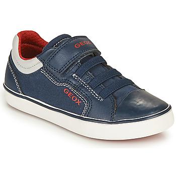 Sapatos Rapaz Sapatilhas Geox GISLI BOY Marinho / Vermelho