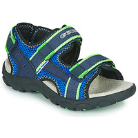 Sapatos Rapaz Sandálias desportivas Geox JR SANDAL STRADA Azul / Verde