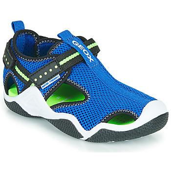 Sapatos Rapaz Sandálias desportivas Geox JR WADER Azul / Verde