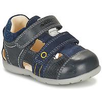 Sapatos Rapaz Sandálias Geox KAYTAN Marinho