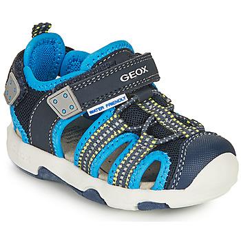 Sapatos Rapaz Sandálias desportivas Geox SANDAL MULTY BOY Azul