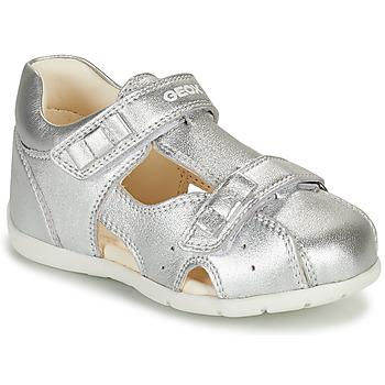 Sapatos Rapariga Sandálias Geox KAYTAN Prata