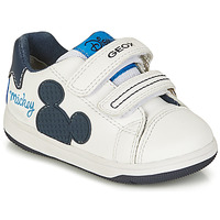 Sapatos Rapaz Sapatilhas Geox NEW FLICK BOY Branco / Azul