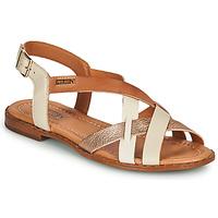 Sapatos Mulher Sandálias Pikolinos ALGAR W0X Branco / Rosa / Ouro