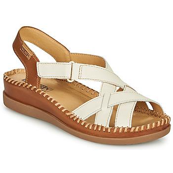 Sapatos Mulher Sandálias Pikolinos CADAQUES W8K Branco / Castanho