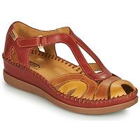 Sapatos Mulher Sandálias Pikolinos CADAQUES W8K Vermelho / Bege