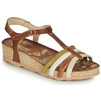 Sapatos Mulher Sandálias Pikolinos MAHON W9E Castanho / Branco