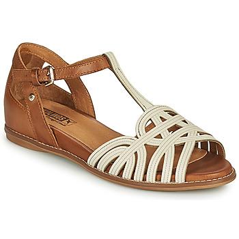 Sapatos Mulher Sandálias Pikolinos TALAVERA W3D Branco / Castanho