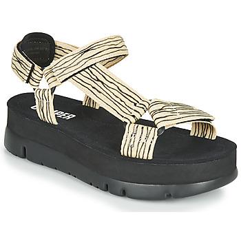 Sapatos Mulher Sandálias Camper ORUGA UP Preto / Bege