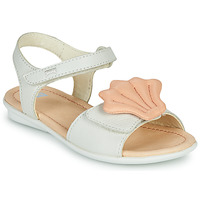 Sapatos Rapariga Sandálias Camper TWINS Rosa / Branco