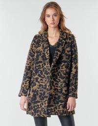 Textil Mulher Jaquetas Deeluxe LEA Castanho / Preto