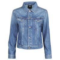 Textil Mulher casacos de ganga G-Star Raw 3301 Straight Dnm Jkt Wmn Azul