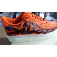 Sapatos Sapatilhas de cano-alto Nike Air Force 1 Skeleton Brilliant Orange/Black/Brilliant Orange